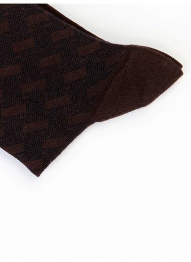 Dufy Kahve Füme Erkek Çorap Kahve